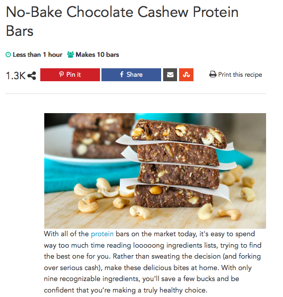 No-Bake Chocolate Cashew Protein Bars – A Whole New Fit You